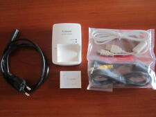 GREAT ORIGINAL SET CANON BATTERY CHARGER + BATTERY PACK NB6L + CABLES PC & VIDEO