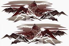 2 RV TRAILER CAMPER MOUNTAIN SCENE DECALS GRAPHIC