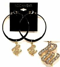 "ROCAWEAR 3.5"" Fashion Earrings (MSRP:$18) - NWT"