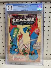 DC Comics Justice League of America #18💥 CGC 3.5 💥 Letter The Atom 1963