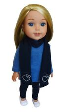 """Doll Clothes AG 14.5"""" Wellie Wishers Pants Blue Top Scarf Fits 14.5"""" Dolls"""