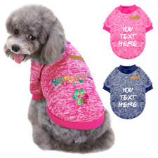 Hand Knitted Small Dog Cat Sweater with Name Custom Winter Warm Puppy Coat Cloth