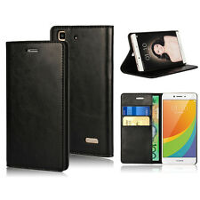 Premium Genuine COW Leather Wallet Case for Oppo R7 R7S Plus