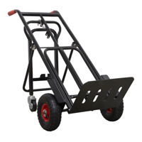 HEAVY DUTY Sack Truck 3 in 1 HORIZONTAL Trolley PUNCTURE PROOF Tyres 300kg NL21