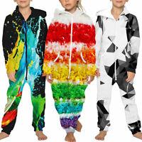 Halloween Kinder Madchen Jungen Jumpsuit Overall Kapuze Hosenanzug Jogger Anzug