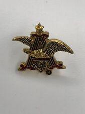 Vintage Anheuser Bush Budweiser Gold Eagle Hat Best Lapel Pin, Beer Advertising