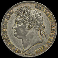 1822 George IV Milled Silver Secundo Crown, Ex Mount