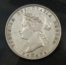 1872-H Canada Silver 25 Cents. VF+/EF grade. Nice lustre.