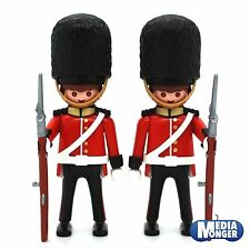 playmobil 2 x Royal Guard Palace Guard british Bodyguard Bearskin cap