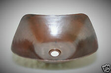 "15""X15"" SQUARE VESSEL SINK 100 % COPPER HAND MADE"