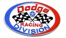 Hot Rod Patch Dodge Racing Division badge Drag Race Hemi Mopar Checkered Flags