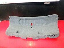 01-05 3 BMW SERIES E46 330I REAR BACK TRUNK DOOR LID WALL CARPET COVER TRIM GRAY