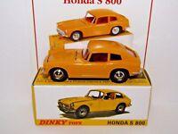 ATLAS DINKY DELUXE HONDA S800 YELLOW 1408 MODEL CAR UK ISSUE