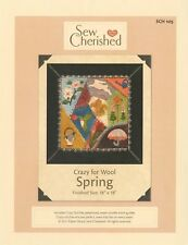Sew Cherished CRAZY FOR WOOL, SPRING  wool PROJECT