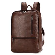 Mens NEW Travel Backpack Satchel Laptop Leather Camping Rucksack Shoulder Bag