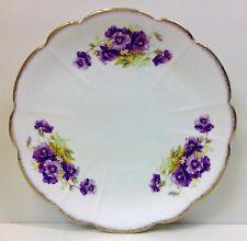 """Melba China """"Violets"""" Pattern Cake Plate."""
