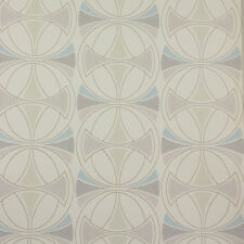 Mid Century Danish Modern Geometric Lines to Linnea Wallpaper 1970s Mod Original