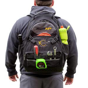 AWP-HP Tool Backpack Bag 75lb Capacity 24 Storage Pockets Molded Base Self Stand
