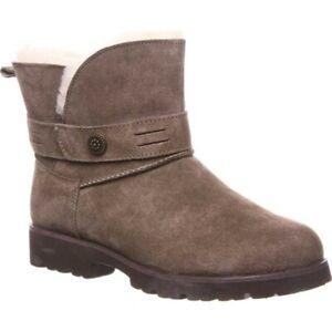 Bearpaw Women's Wellston Water Resistant Winter Boots Seal Brown Suede Size 9 M