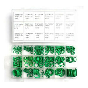 270PCS Rubber Green HNBR O-Rings Assortment Kit Fit for A/C Compressor Repair