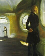Vintage Art James Wyeth Dome Room 1995 Portrait of Jean Kennedy Smith 1972