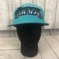 NBA Charlotte Hornets New Era Hardwood Classics Teal & Purple Snapback Hat / Cap