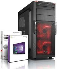 PC Quad Core Computer GAMER FX 4100 8GB NVIDIA GT710 Rechner Komplett Windows 10