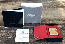 S.T. DUPONT PARIS Vintage Gold Plated Lighter Kit Guarantee Mechero DY9151