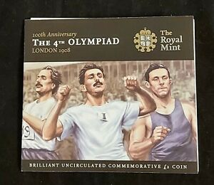 Royal Mint 2008 4th Olympiad London Olympic Games £2 Coin (BU UNC)