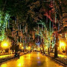 Solar Meteor Shower Lights Waterproof LED Light Tube String Outdoor Garden Decor