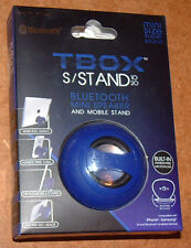 HYPE TBOX BLUETOOTH MINI SPEAKER & MOBILE STAND HYAU-327-BLU; Blue, Brand New!