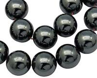 Hematite Non Magnetic Round Beads 8mm 53 Pcs Gemstones DIY Jewellery Making