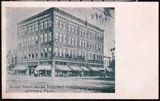 SAYRE PA Reeser Kessler Wieland Department Store Vtg Postcard Early Town View PC