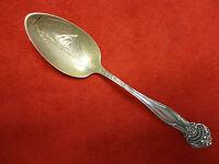 Portland, Oregon Sterling Souvenir Spoon with Mt. Hood in Gold Wash Bowl 9787