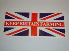 "2 X KEEP BRITAIN FARMING STICKERS  6"" x 2.5"" TRACTOR 4X4 QUAD FARMERS VEHICLES"