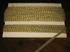 "Casa/Tessuti/Stoffe/Gold Trimmings""PASSAMANERIA ORO""Lungh.metri 40-Largh.cm.0,8"