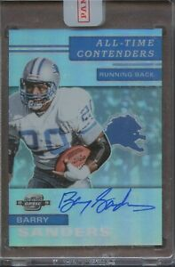 2019 Panini Contenders Optic Barry Sanders Lions All Time Contenders AUTO 24/25