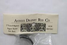 "Antique Drapery Rod Co. 2"" Virtue & Regency Support Bracket Black Made In USA"