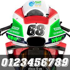 Stickers Numeri adesivi da gara per moto auto racing corse bike kart pegatinas