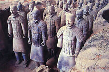 OLD POSTCARD - Museum of Qin Terra-cotta - Warriors and Horses Group