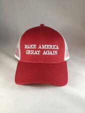 Make America Great Again Donald Trump New Hat Red white mesh snap back USA MAGA