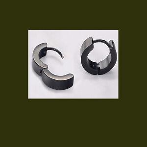 Stainless Steel Hoop Huggies Ear Stud Earrings Gothic punk  USA