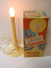 "NOMA LITES SINGLE ELECTRIC 10"" CANDOLIER CHRISTMAS CANDLE ORIGINAL BOX #151 L#4"