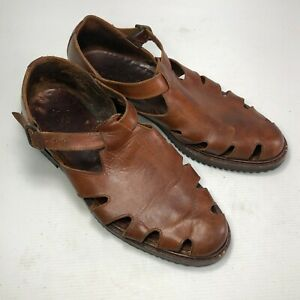 Cole Haan Country 6993 Brown Leather Closed Toe Buckle Men Casual Shoes Sz 11M