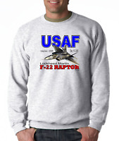 Long Sleeve T-shirt United States Air Force USAF F-22 Raptor Lockheed Martin