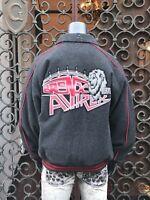 Men's Avirex Heather Grey | Black Wool &  Nylon Reversible Jacket