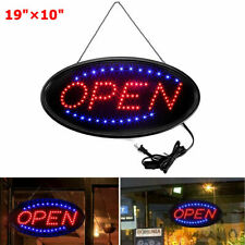 """19""""×10"""" Neon Animated Led Business Sign Open Light Bar Store Shop Display"""