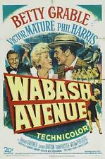 WABASH AVENUE Movie POSTER 27x40 B Betty Grable Victor Mature Phil Harris
