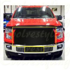 For 2015 16 2017  Ford F150 F-150 BLACK Billet Grille Grill Inserts REPLACEMENT