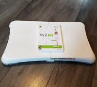 Nintendo Wii Fit Balance Board With Nintendo Wii Fit Video Game Disc Bundle
